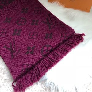 Authentic preowned lv logomania scarf